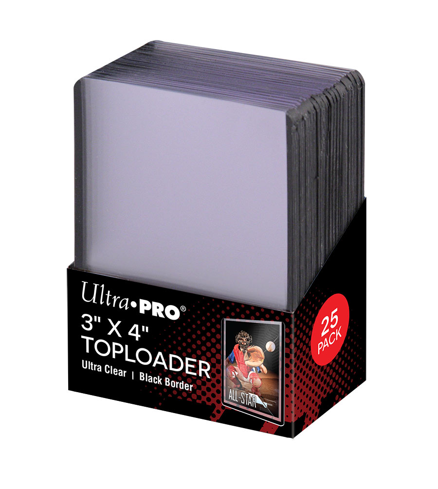 "3"" X 4"" Black Border Toploader 25ct, Ultra PRO"