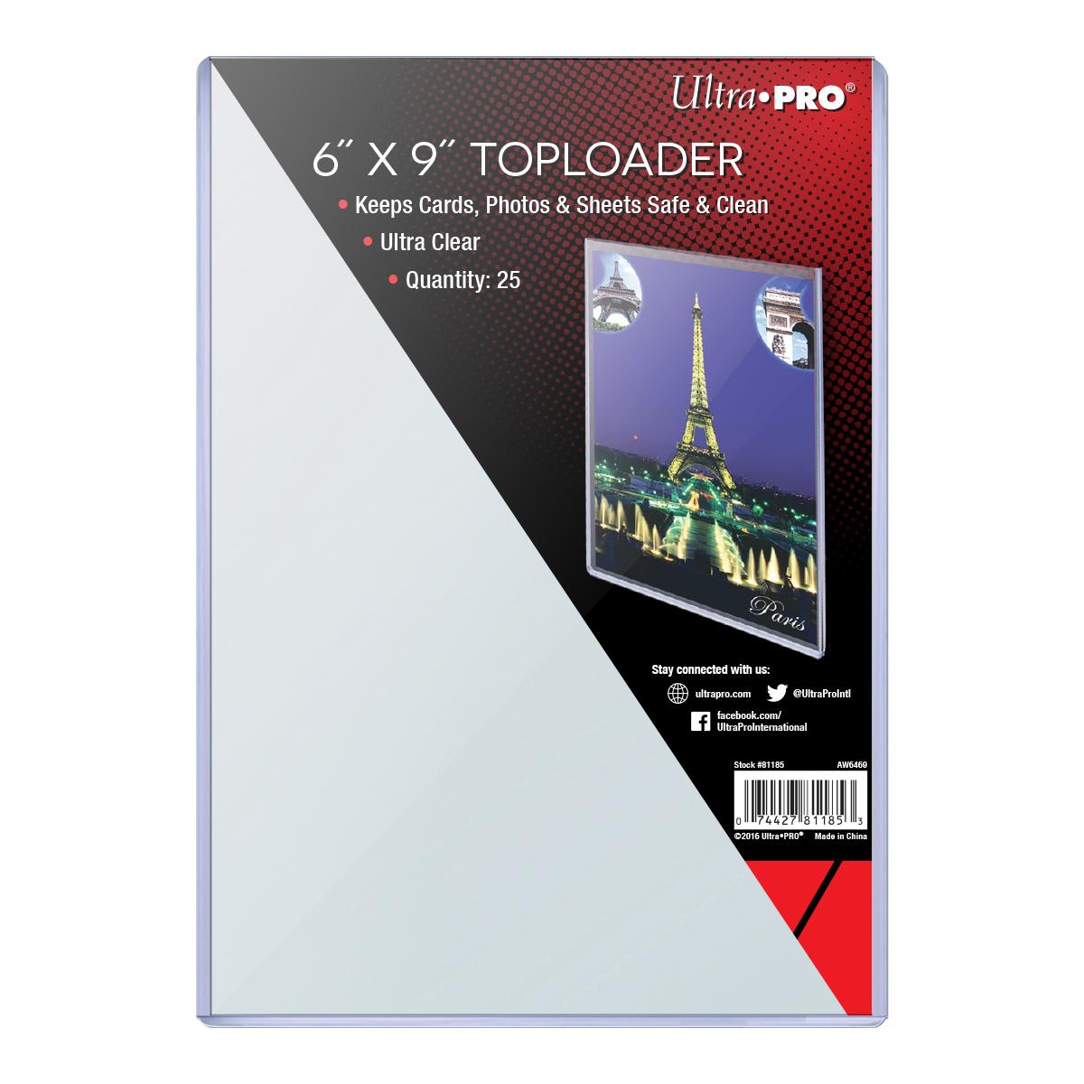 "6"" X 9"" Toploader 25ct, Ultra PRO"