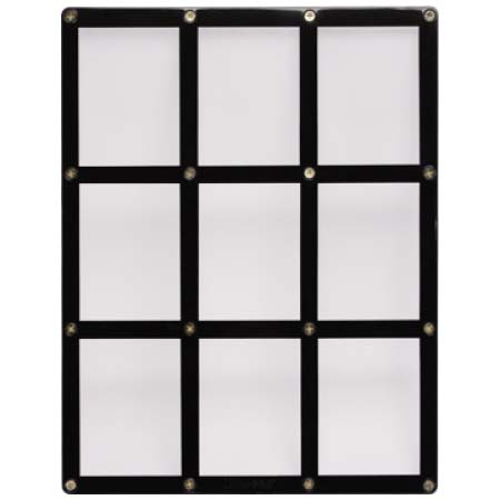 9-Card Black Frame Screwdown Holder, Ultra PRO