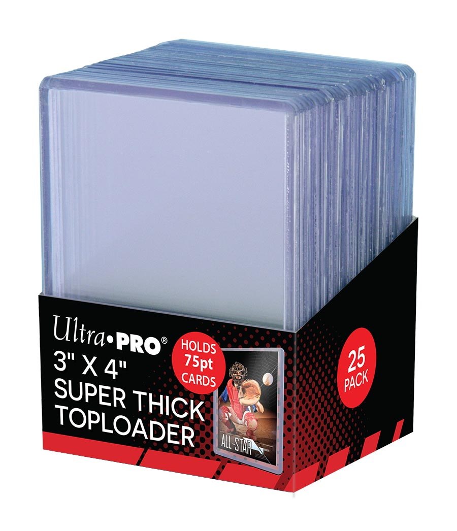 """3"""" X 4"""" Thick 75PT Toploader 25ct, Ultra PRO"""