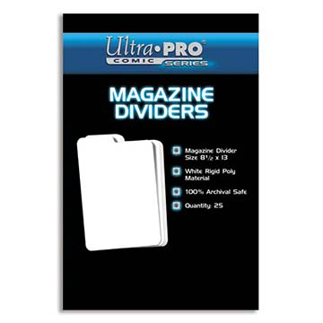 Ultra Pro Comic Series Comic Storage Archival Safe Dividers x 25