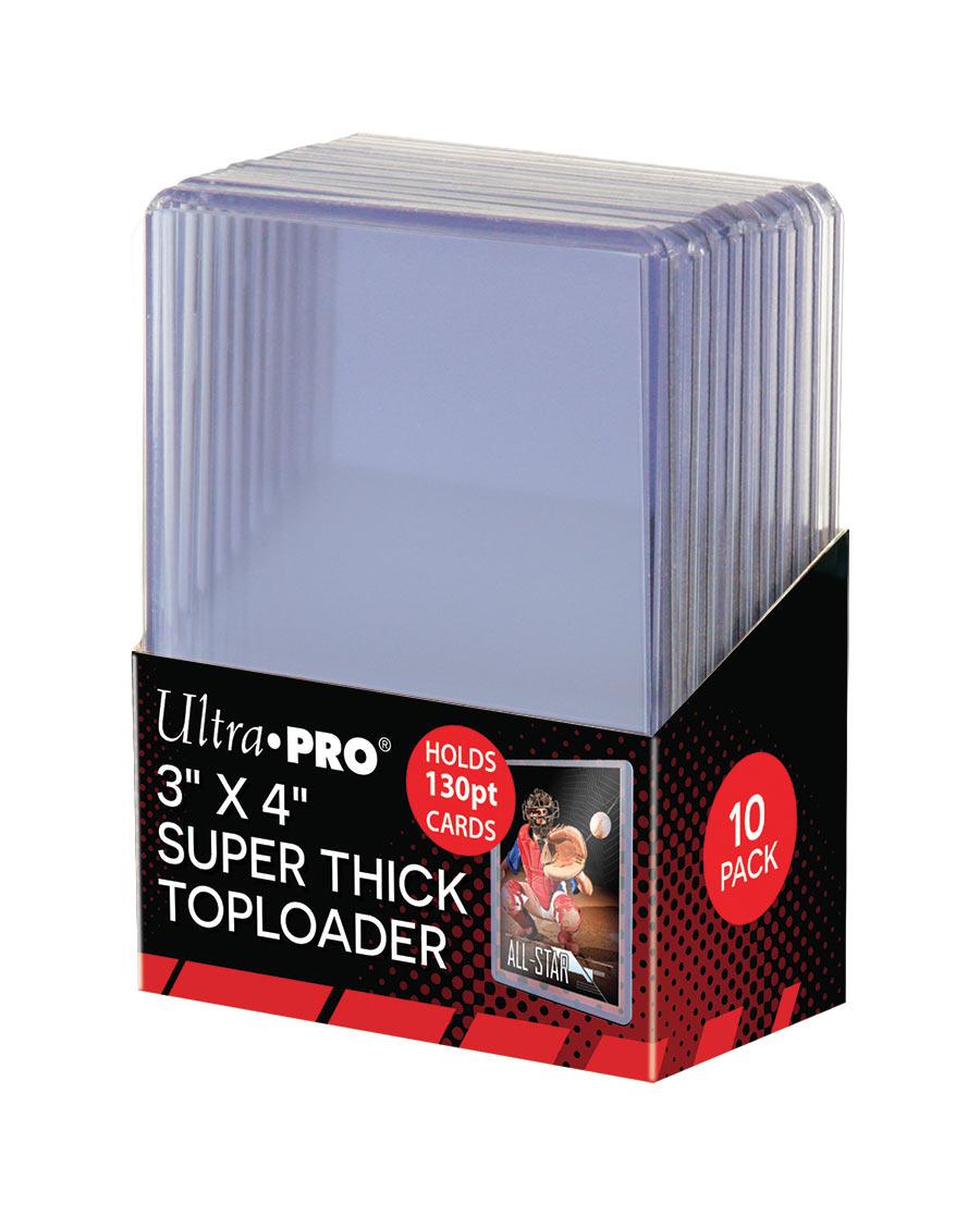 "3"" X 4"" Super Thick 130PT Toploader 10ct, Ultra PRO"