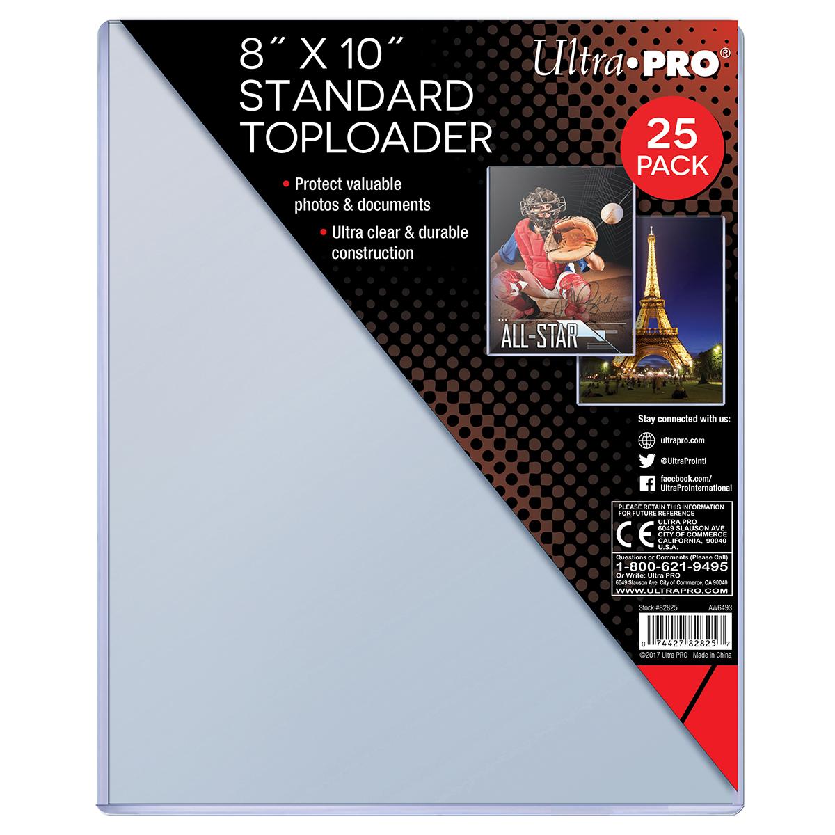 "8"" X 10"" Toploader 25ct, Ultra PRO"