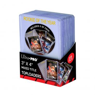 """3\"""" X 4\"""" Mixed Title Toploader 25ct"""