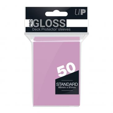 PRO-Gloss 50ct Standard Deck Protector® sleeves: Bright Pink