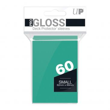PRO-Gloss 60ct Small Deck Protector® sleeves: Aqua