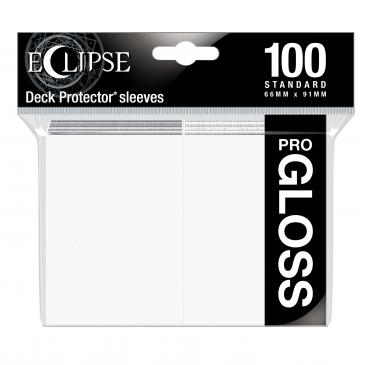 Eclipse Gloss Standard Sleeves: Arctic White