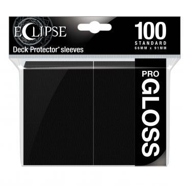 Eclipse Gloss Standard Sleeves: Jet Black