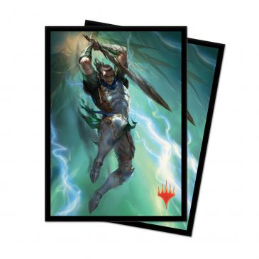 """MTG War of the Spark"" Gideon Backblade Standard Deck Protector sleeves 100ct for Magic: The Gathering"