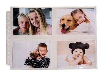 "12-Hole Horizontal Photo Page 25ct Pack for 3 ½"" x 4 ½"" Prints"