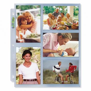 "3-Hole Photo Page for 3 ½"" x 5 ¼"" Prints (300ct Bulk)"