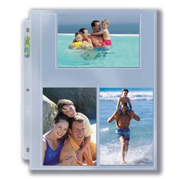 "3-Hole Photo Page for 4"" x 6"" Prints (300ct Bulk)"