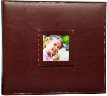 "3-Ring Brown 12\"" x 12\"" Photo and Scrapbook Album"