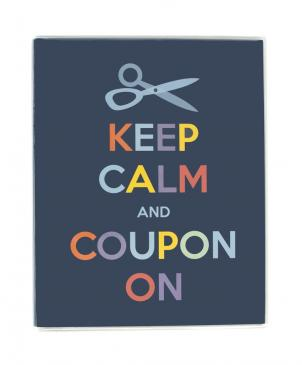 Small Coupon Organizer Portfolio - Keep Calm
