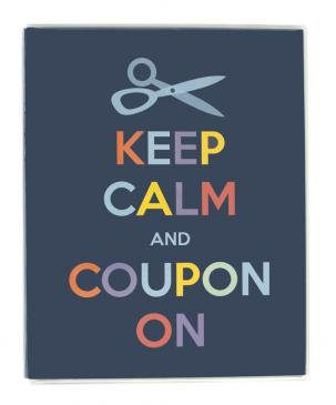 Large Coupon Organizer Portfolio - Keep Calm