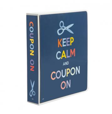 3-Ring Coupon Organizer Binder - Keep Calm