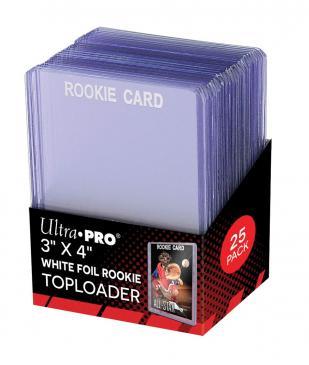 "3\"" X 4\"" Rookie White Toploader 25ct"
