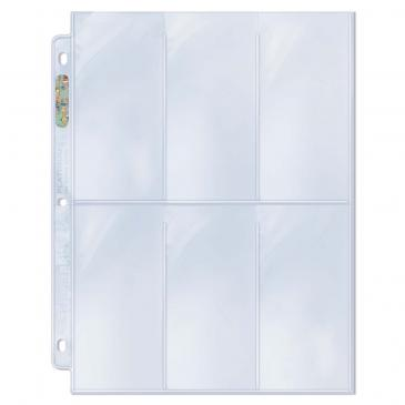 "6-Pocket Platinum Page with 2-1/2"" X 5-1/4\"" Pockets"