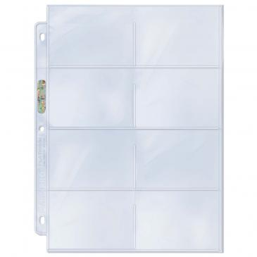 "8-Pocket Platinum Page with 3-1/2"" X 2-3/4\"" Pockets"