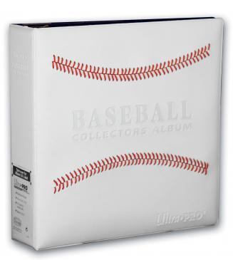 "3\"" White Stitched Baseball Card Collectors Album"