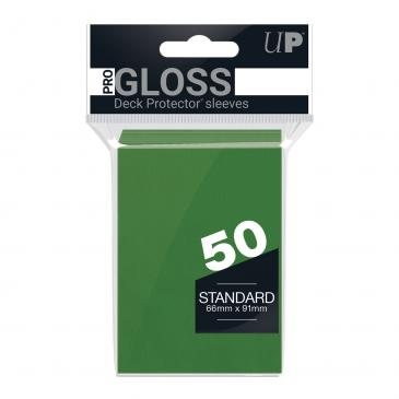 PRO-Gloss 50ct Standard Deck Protector® sleeves: Green