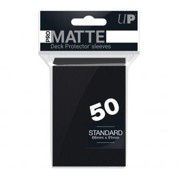 50ct Pro-Matte Black Standard Deck Protectors