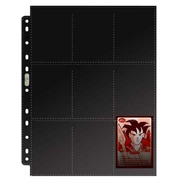 18-Pocket Platinum Topload Page with Black Background (11-Holes)