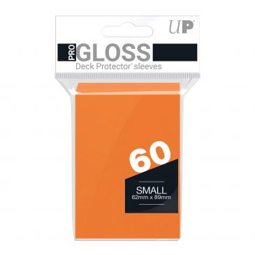 PRO-Gloss 60ct Small Deck Protector® sleeves: Orange