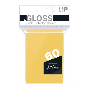 PRO-Gloss 60ct Small Deck Protector® sleeves: Yellow
