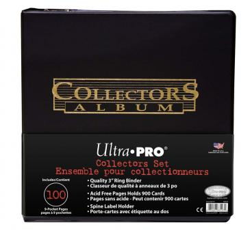 """3\"""" Black Collectors Album Gold Foil w/ Pages"""