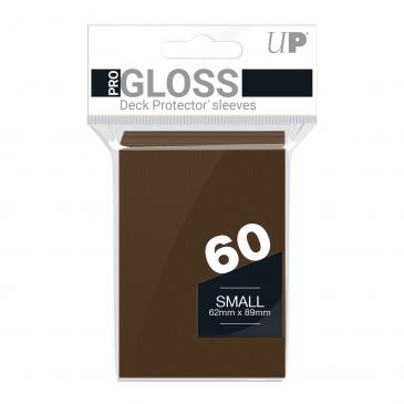 PRO-Gloss 60ct Small Deck Protector® sleeves: Brown