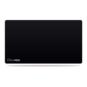 Solid Black Playmat for Card Games and Workstations