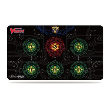 Base Red on Black Playmat for Cardfight!! Vanguard