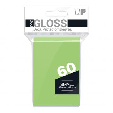 PRO-Gloss 60ct Small Deck Protector® sleeves: Lime Green
