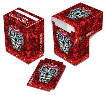 Dia De Los Muertos Blue Skull Deck Box