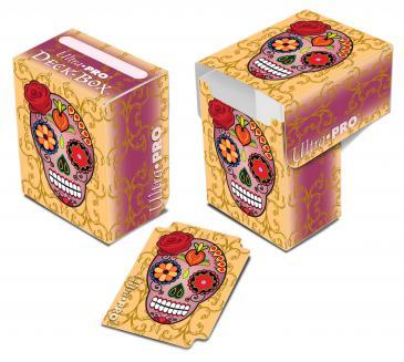 Dia De Los Muertos Pink Skull Deck Box