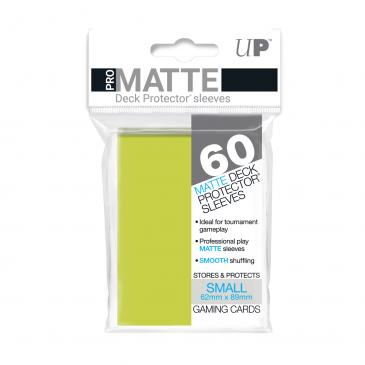 60ct Pro-Matte Bright Yellow Small Deck Protectors