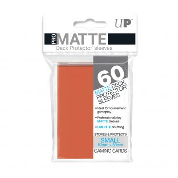 60ct Pro-Matte Peach Small Deck Protectors