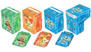 Pokémon X & Y Deck Boxes: Chespin, Fennekin & Froakie