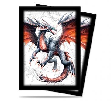 Black Dragon Standard Size Deck Protector Sleeves by Mauricio Herrera 50ct