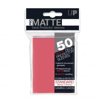 50ct Pro-Matte Fuchsia Standard Deck Protectors