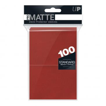 100ct Pro-Matte Red Standard Deck Protectors