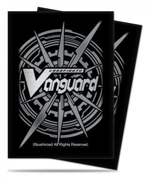 Silver Card Back Small Deck Protectors for Cardfight!! Vanguard 65ct