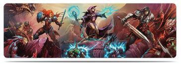 8ft Realms of Havoc Guardians of Donara Table Playmat by Mauricio Herrera