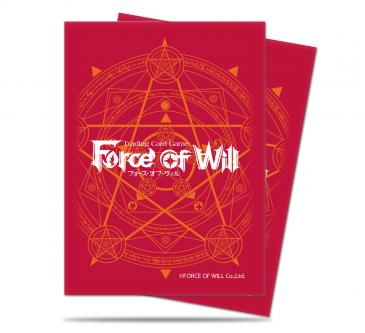 Red Card Back Standard Deck Protectors for Force of Will 65ct