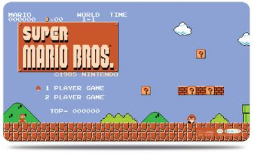 Super Mario: Level 1-1 Playmat with Playmat Tube