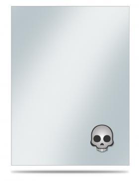 Emoji: Skull Standard Sleeve Covers 50ct