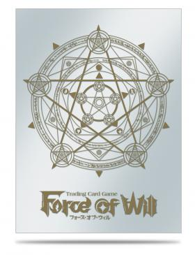 Gold Magic Circle Sleeve Covers for Force of Will 65ct with Black Stone Promo