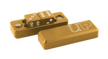 D6 - 2 Dice Set Gravity Dice - Gold