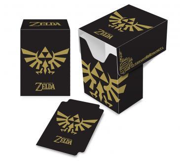 The Legend of Zelda: Black & Gold Hyrule Crest Full-View Deck Box